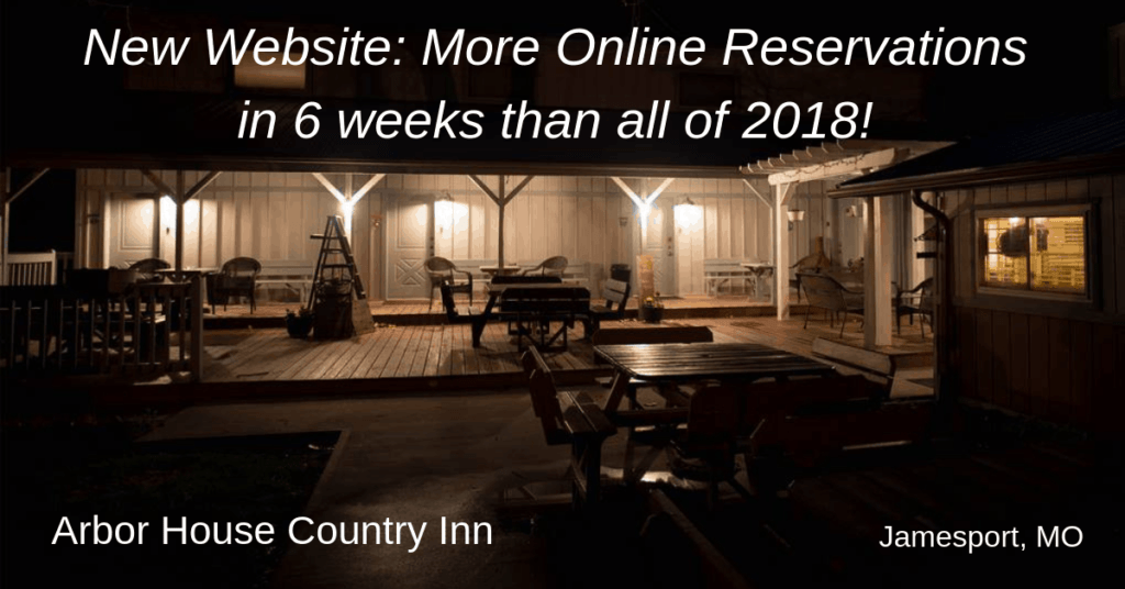 New Website  More Online Reservations in 6 weeks than all of 2018