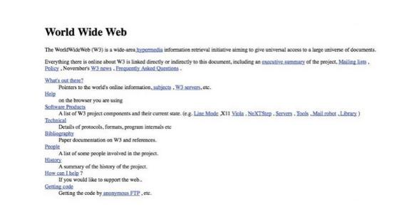World's First Website