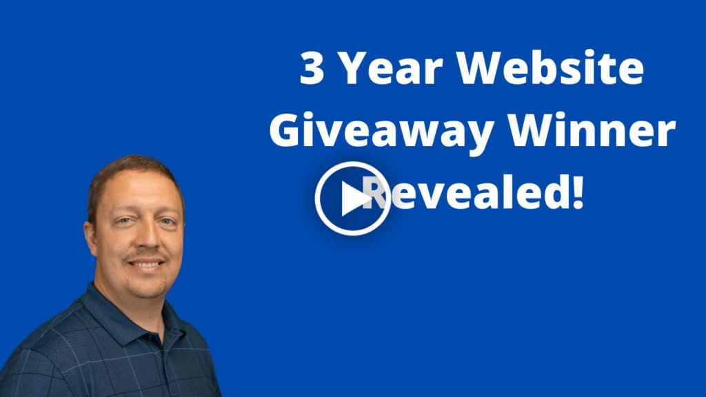 3 Year Website Giveaway Winner Revealed video