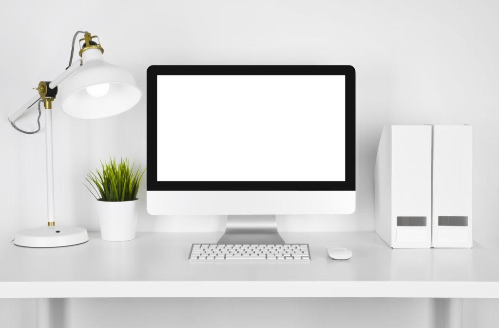White Computer desk 1