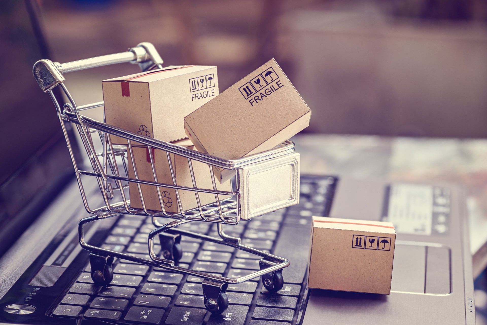 Switching your website to ecommerce. Image of shopping cart.